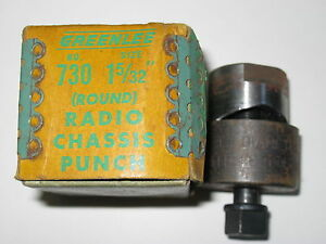 Greenlee 1 5 32 Round Radio Chassis Punch