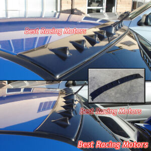 Vortex Vg Style Roof Spoiler Wing abs Black Fits 01 07 Mitsubishi Evo 7 8 9