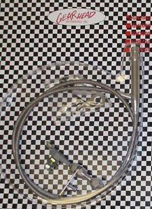 Gm Chevy Turbo 350 Th350 Stainless Braided Transmission Kickdown Cable Detent
