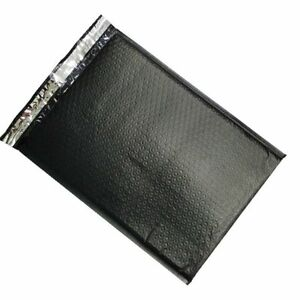 100 5 Black Poly Bubble Mailers Envelopes Bags 10 5x16 Colors Stand Out