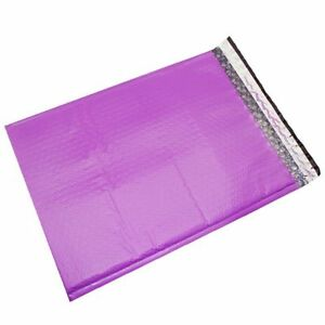 100 5 Purple Poly Bubble Mailers Envelopes Bags 10 5x16 Colors Stand Out