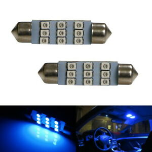 Ultra Blue 9 Smd 1 72 42mm 578 211 2 Led Bulbs For Interior Map Dome Lights