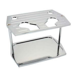Optima Group 34 78 Milled Chrome Aluminum Battery Hold Down Tray Red Yellow Top