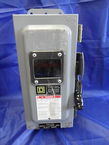 Nice Square D Ch361awk Safety Switch Disconnect 30 Amp 600v Fusible