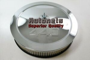 14 Dodge Mopar Plymouth Big Block Stamped 440 Logo Chrome Air Cleaner Recessed
