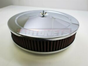 10 X2 Round Air Cleaner Chrome Muscle Car Washable Fit Chevy Ford Mopar Sbc Bbc