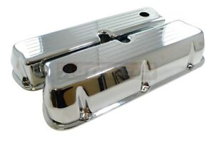 Chromed Aluminum Ford 289 302 351w 5l Valve Cover Ball Mill Small Block Mustang