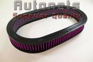 19 X2 Oval Washable Air Cleaner Element Filter Chevy Ford Sbc Bbc Chevy 350 454