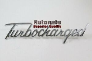 Universal Chromed Trim Emblem Script Turbocharged Logo Street Hot Rat Rod Decal