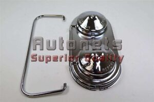 Chrome Steel Brake Master Cylinder Cover Gm Chevy 67 80 Single Bail Cap Hot Rod