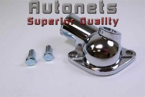 Small Big Block Chevy Chrome Water Neck Thermostat Housing Temperature Port Sbc