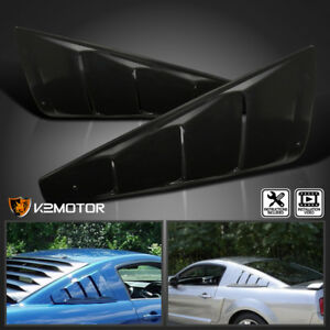 2005 2014 Ford Mustang 1 4 Quarter Side Window Louver Covers Black