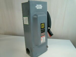 Square D 100a 240vac Safety Switch H223n