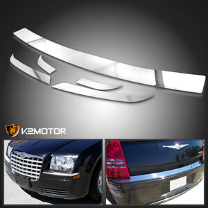 2005 2010 Chrysler 300 Front Rear Chrome Bumper Trim