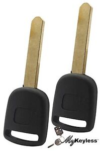 New Honda Replacement Uncut Transponder Chip Ignition Car Key Blade Ho01 Pt Pair