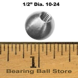 100 1 2 Dia Threaded 10 24 Aluminum Balls Knobs