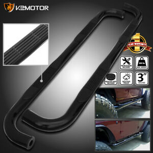 For 2001 2018 Silverado Sierra 2500hd Crew Cab Black Running Board Side Step Bar