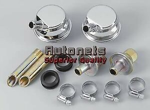 Crankcase Evacuation System Race Evac Kit Pcv Chrome Chevy Ford Mpopar Sbc Bbc