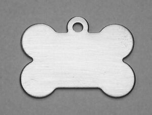 300 Stainless Steel Blank Bone Engraving Machine Id Tags Brush Finish Chewbarka