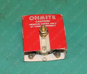 Ohmite Rks100 Rheostat Wirewound 100ohm 100w 100 Watt Ohm Potentiometer New