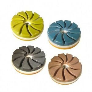 Tenax Snail Lock Edge Polishing Discs 4 Inch Set