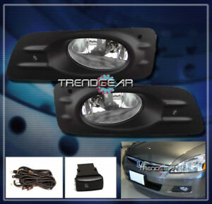 2006 2007 Honda Accord Ex Lx Sedan 4dr Jdm Bumper Chrome Fog Light Lamp bulb Set