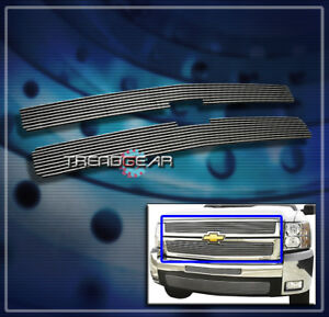 2007 2010 Chevy Silverado 2500 3500 Hd Front Upper Billet Grille Grill 2008 2009