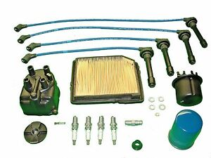 Tune Up Kit Honda Civic 1 5l 1988 To 1991 Spark Plugs Wires Cap Rotor Filters