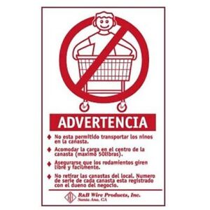 Wall Mounted Warning Sign Spanish Model Number 903s