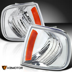 For 1997 2004 F150 Expedition Crystal Clear Corner Turn Signal Lights Left Right