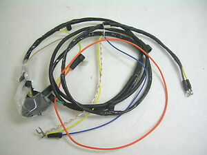 1967 Impala Belair Biscayne Engine Wiring Harness 283 327 Warning Lights No Ac