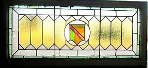 Antique American Stained Glass Transom Window Arts Crafts 23x48 Salvage