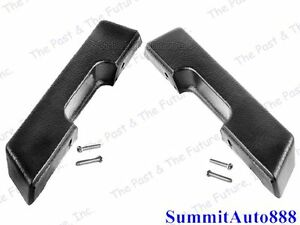 1972 72 Chevy Pickup Pu Truck Door Arm Rest Black Pair Right Left Side 2pcs