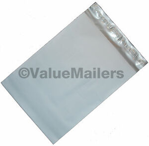 1000 Poly Mailers Envelopes 12x16 Self Seal Plastic Bags Matte Finish 2 7 Mil