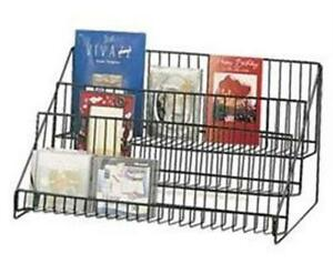 Counter Books Literature Wire Display Rack 3 Tier black