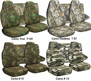 97 02 Jeep Wrangler Tj Seat Covers Camouflage Front Rear Choose Your Camo