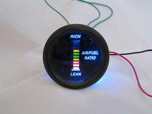 Air Fuel Ratio Gauge 2 Blue Led Digital Black Face With Red Yellow Green Digits