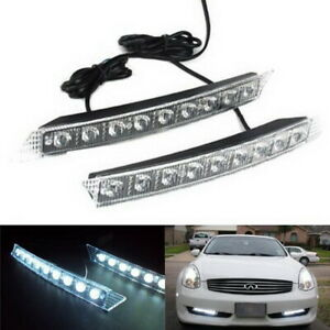 Audi A6 Q7 Style 9 Led Led Daytime Running Lights Universal Fit For Any Car