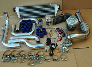 Honda Civic 96 00 D15 D16 Blot On Turbo Kit Intercooler Piping T3 T4 63 Ar