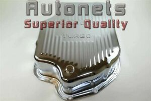 4 Deep Chevy Gm Buick Chrome Steel Th400 Transmission Pan Finned Extra Capacity