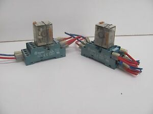 Lot Of 2 Finder 94 74 W 55 34 8 110 0040 Relay 7a 110vac