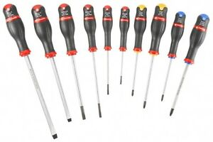 Facom 10pc Protwist Screwdriver Set An J10 Slotted Phillips Pozidriv