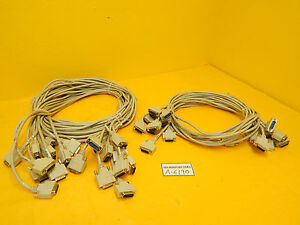Edwards Vacuum System Interface 15 Pin Cable Reseller Lot Of 18 Used