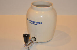 Steel City Manufacturing Co Youngstown Ohio Pottery Crock Stoneware Water Jug