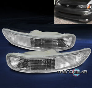 For 1993 1997 Toyota Corolla Depo Front Bumper Signal Light Clear 1994 1995 1996