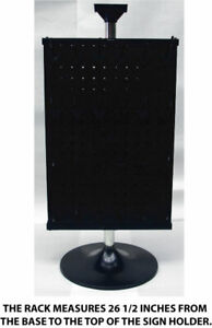 Counter Top Peg Board Spinner Rack Display 2 Sided With Hooks Black