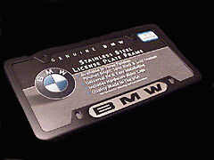 Genuine Bmw License Plate Frame Black Frame Bmw Name