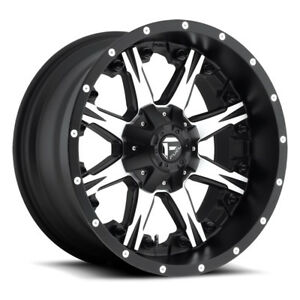 22 Fuel Offroad Nutz D541 One Piece Series Wheel Set Black Machined 22x12