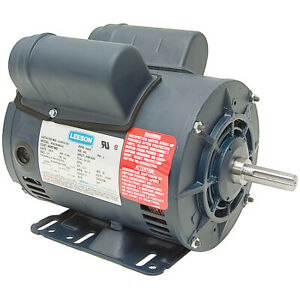 5 Hp Compressor Motor 230 Volts 3450 Rpm 5 8 Shaft Special Duty Leeson 10 2530