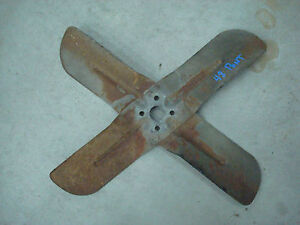 1948 48 Pontiac Silverstreak Fastback Flathead Six Fan Assembly Chevy Buick Oem